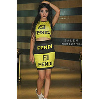 FENDI Women Vest Skirt Two-Piece