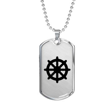 Dharma Wheel - Luxury Dog Tag Necklace