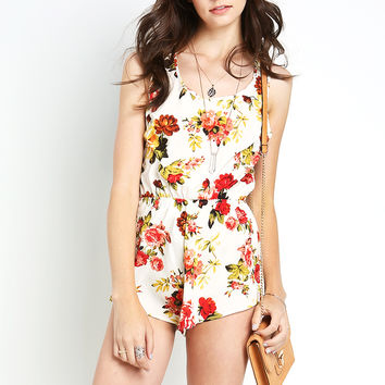 Rose Pattern Romper