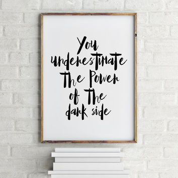 Star Wars Poster Star Wars Quotes Movie Poster - Darth Vader - Vintage Style Magazine Retro Print Watercolor Background - Pick your Size