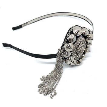 Great Gatsby Rhinestone and Dangle Headband
