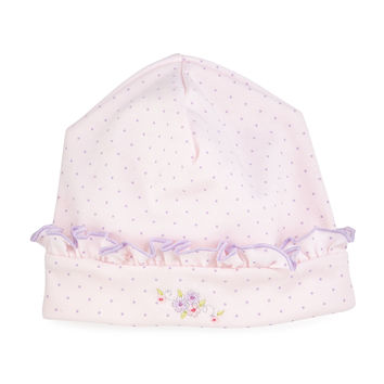 Lilac Blooms Pima Baby Hat, Pink, Size: