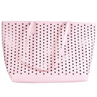 Perforated Pink Weekend Bag