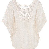 poncho top in lace