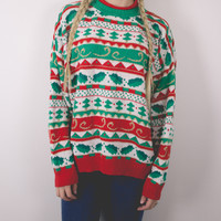 Vintage Nordic Ugly Christmas Sweater