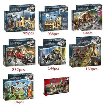 New Harri Potter Serices Hogwarts Great Hall Building Blocks Model Toys For Children Compatible With Legoing 75954