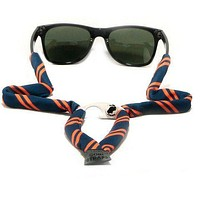Navy & Orange Striped Bottle Opener Sunglass Straps by Gobi Straps