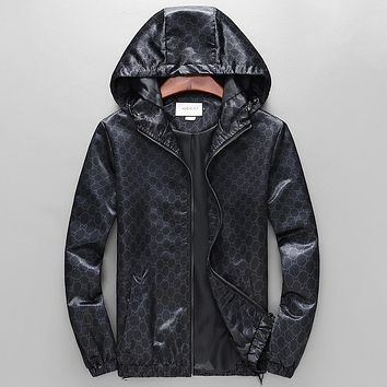 Gucci Fashion Casual Loose Hooded Cardigan Jacket Coat