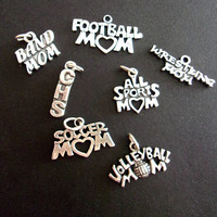 Sterling Silver Charms for Mom Sports, Lot of 7, Vintage