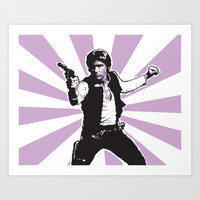 Han Solo Art Print by Rich Anderson