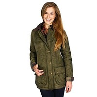 Beadnell Polarquilt Jacket in Olive by Barbour - FINAL SALE
