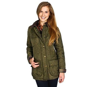 Beadnell Polarquilt Jacket in Olive by Barbour