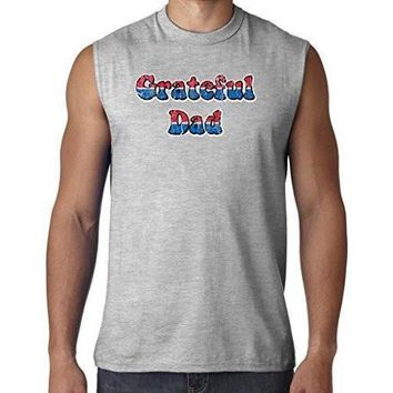 Yoga Clothing for You Mens American Grateful Dad Muscle Tee