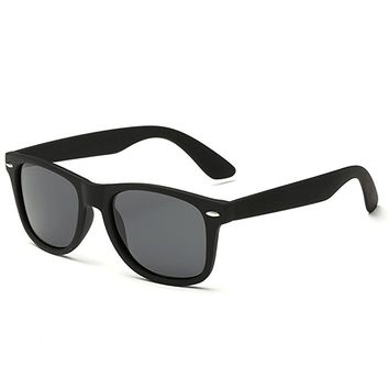 Classic Semi Rimless Polarized Clubmaster Sunglasses with Metal Rivets