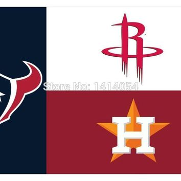 Houston State Fans Texans Rockets Astros  Flag 150X90CM  MLB 3x5 FT Banner 100D
