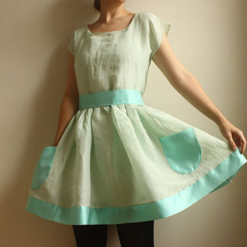 LoriEcoFriendly Hemp/Silk and Silk Organza Dress by Leanimal