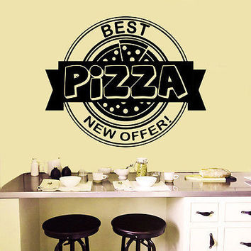 Wall Decals Italian Pizza Pizzeria Fast Food Vinyl Sticker Decor O611