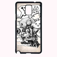 kitten train FOR SAMSUNG GALAXY NOTE 4 CASE**AP*