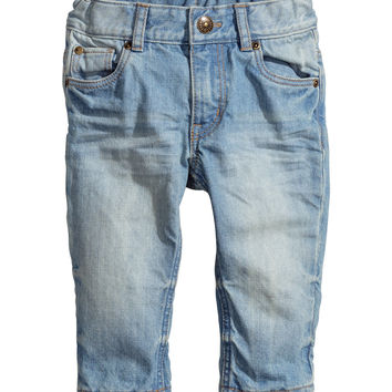 H&M - Straight Jeans - Light denim blue - Kids