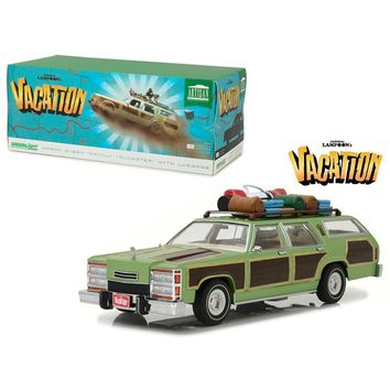 1979 Family Truckster Wagon Queen \National Lampoon\s Vacation\ (1983) Movie with Rooftop Luggage Artisan Collection 1-18 Diecast Model Car by Greenlight