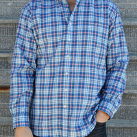 Vineyard Vines Norwich Performance Flannel Classic Tucker Shirt- Wipeout