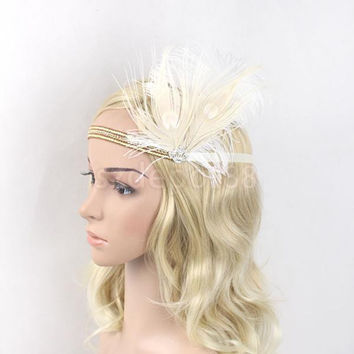 1920's Diamante Rhinestone Vintage Great Gatsby Flapper Headband Headpiece Costume Head Band Party Favor Fancy Dress