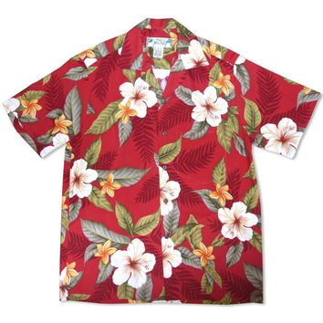 Makaha Red Hawaiian Rayon Shirt
