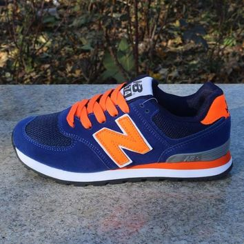 Women Men Casual Running NEW BALANCE Sport Shoes Sneakers Treasure blue orange