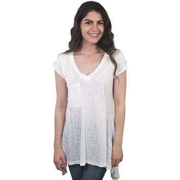 V-Neck Pocketed T-Shirt