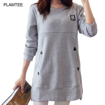Loose Nursing Clothes Tops for Pregnant New Spring Breastfeeding T Shirt with Pockets