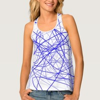 Squiggle Blue Tank Top