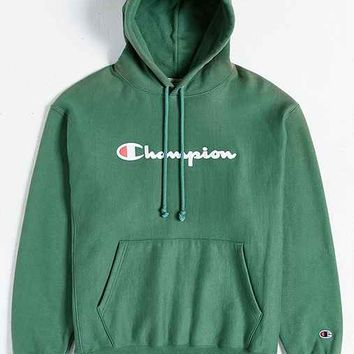 Champion Script Reverse Weave Hoodie from Urban Outfitters