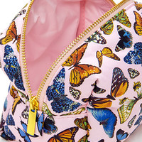 Butterfly Print Makeup Pouch