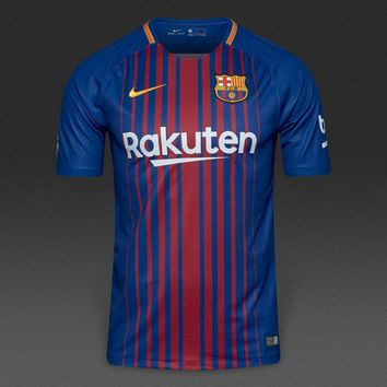 KUYOU Barcelona 2017/18 Home Stadium Men Soccer Jersey Personalized Name and Number