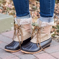 Nova Duck Boots - Taupe