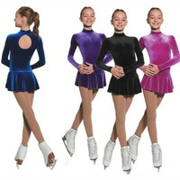 Mondor 2729 Born To Skate Long Sleeve Figure Skating Dress