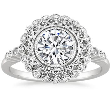 18K White Gold Alvadora Diamond Ring