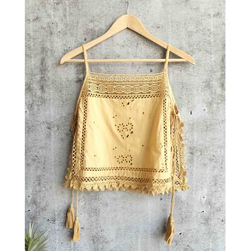 free people - garden party embroidered cami - more colors