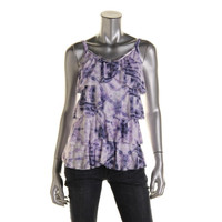 INC Womens Burnout Ruffled Pullover Top