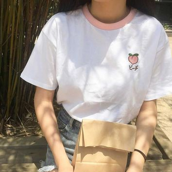 Embroidered Fruity Tee