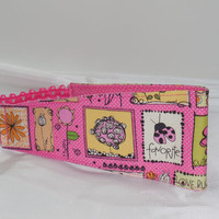 Adorable Pink Headband With Pink Polka Dot Inside