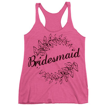 Bridesmaid Racerback Tank Top.