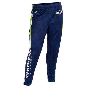 Seattle Seahawks Official NFL Men's Tapered Zip Up Pants