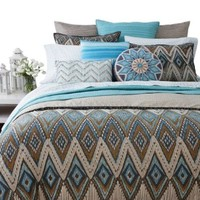 Ikat Diamond By SKY Bedding Reversible Comforter / Duvet Cover Set, Full/queen Bloomingdale's Exclusive Collection