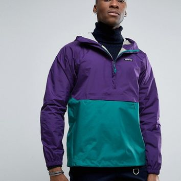 Patagonia Torrentshell Jacket Overhead Waterproof 2 Tone in Purple at asos.com
