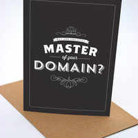 Are You Still Master of Your Domain - Seinfeld Quote - Greeting Card - Birthday - Funny