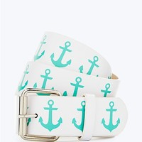 Turquoise Anchor Belt