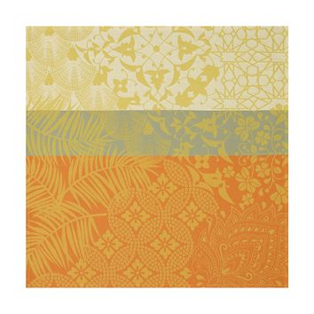 Autour Du Monde Placemats & Napkins in Yellow