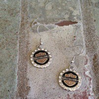 Harley Davidson Earrings from Country Wind