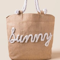 Sunny Rope Beach Tote